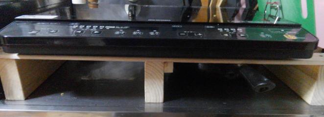 IHコンロの台をDIYで作った。制作費数百円。