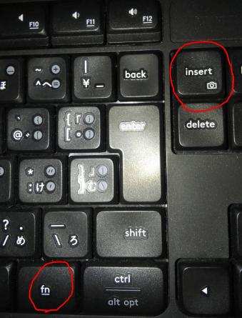 パソコン スクショ やり方