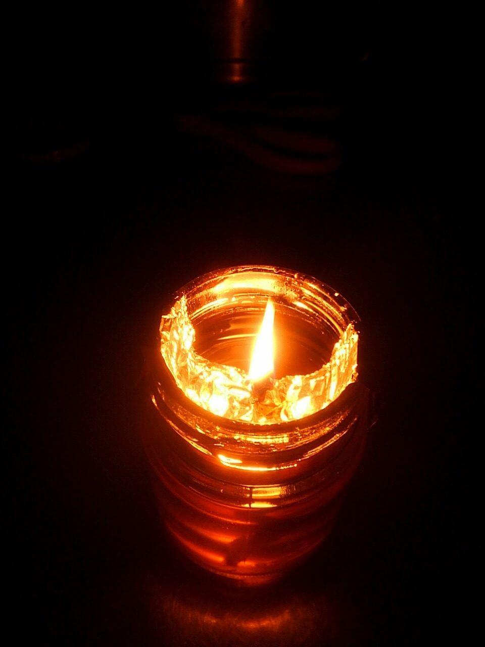 停電でロウソクの代わりになるもの。廃油で作るランプとか。