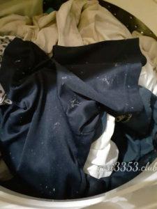 ティッシュと一緒に洗ってしまった洗濯物